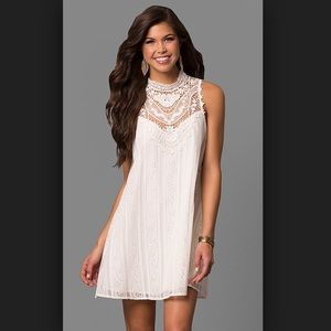 White lace shift dress S graduation wedding